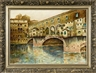 V. Bianchini, Scene of the Ponte Vecchio in Florence, Italy