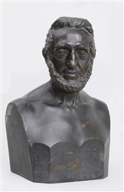 Artwork by Hiram Powers, Portrait Bust of John Moffat, Made of Bronze