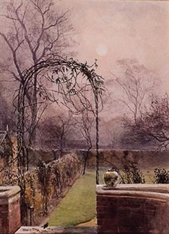 A London garden in late autumn By Mildred Anne Butler