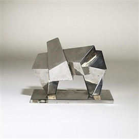 Artwork by Anthony Padovano, Maquette for Bridge #2, Made of steel