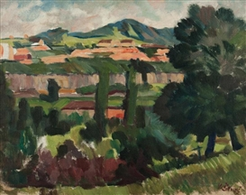 Artwork by Vincenc Benés, Landscape, Made of oil, canvas