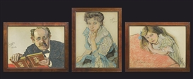 Artwork by Stanislaw Wyspianski, Sternbach Family Portraits, Made of pastel, paper