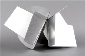 Artwork by Lygia Clark, Raw Cubismo, Made of aluminum