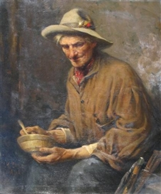 Artwork by Lawrence Earle, PORTRAIT OF AN ANGLER, Made of oil on canvas