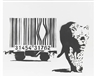 Banksy, Leopard and Barcode
