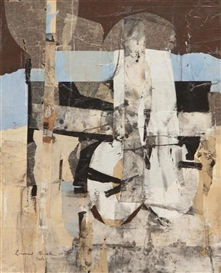 Artwork by Leonard Brooks, Delos, Made of collage on canvas