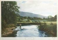Artwork by Odgen M. Pleissner, The Lye Brook Pool, Rolling Hill River, Vermont, Made of lithograph