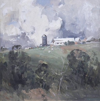 Farm Buildings, Heidelberg By W.B. McInnes