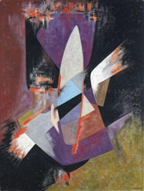 Artwork by James Pichette, COMPOSITION, 1956, Made of oil on canvas