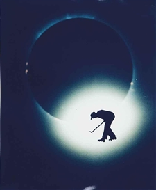 Artwork by Eve Sonneman, Golf on Solar Eclipse, 1988, Made of Polaroid print