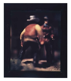 Artwork by David Levinthal, 2 works: Straits West, 1988; Five Trails West, 1988, Made of each chromogenic print
