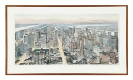 Artwork by Richard Haas, View North from the Empire State Building, Made of watercolor and pencil on paper