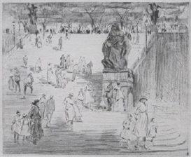 Artwork by Paul Paeschke, In The Park, Made of etching