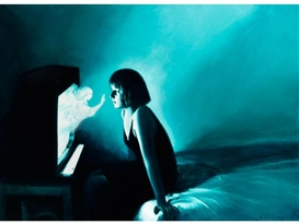 Artwork by Gottfried Helnwein, ANNUNCIATION (VERKÜNDIGUNG), Made of Mixed media on canvas