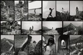 Artwork by Ma Liuming, Fen-Ma Liuming Walks The Great Wall, Made of black and white photograph