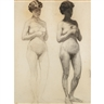 Thomas Anshutz, Two Studies of Nude Model
