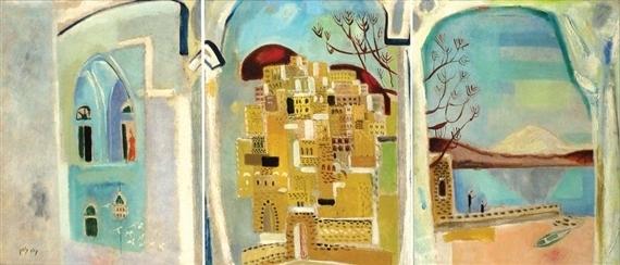 Triptych: Tiberias By Nahum Gutman