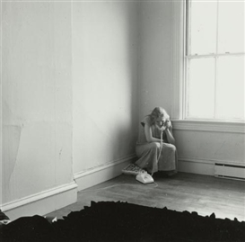 Artwork by Francesca Woodman, UNTITLED, PROVIDENCE, RHODE ISLAND (SELF-PORTRAIT ON THE TELEPHONE) 1975-1976