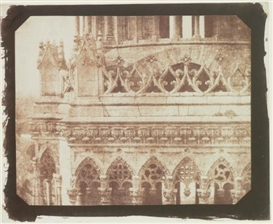 Artwork by William Henry Fox Talbot, ONE OF THE TOWERS OF ORLEANS CATHEDRAL, AS SEEN FROM THE OPPOSITE TOWER 1843, Made of salt print from a calotype negative
