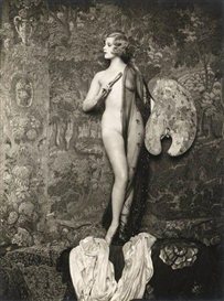 Artwork by Alfred Cheney Johnston, Ziegfeld, Hazel Forbes, Made of Silver print