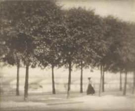 Artwork by Karl Struss, Along the Elbe, Dresden, 1909, Made of platinum print