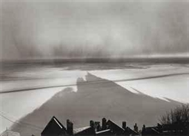 Artwork by William Clift, Shadow, Mont St. Michel, France, 1977, Made of gelatin silver print