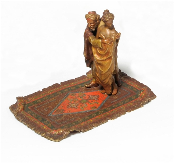 bergmann franz a cold painted bronze figure of an arab. Black Bedroom Furniture Sets. Home Design Ideas
