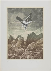 Artwork by Tom Phillips, Icarus, Made of lithograph printed in colours