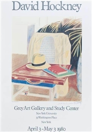 David Hockney, Poster for the Grey Art Gallery and Study Center