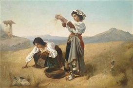 Anton Romako, After the Harvest