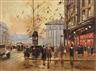 Antoine Blanchard, 2 works: Paris Street Scenes