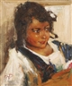 Russian School, 20th Century, Portrait of a Young Girl
