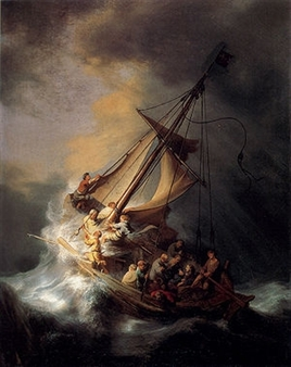 Storm on the Sea of Galilee by Rembrandt