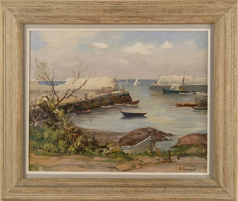 The Cove Lanesville Ma By Jacob I. Greenleaf