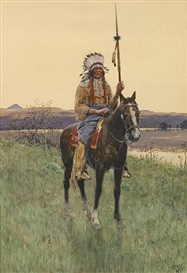 Henry Francis Farny, Southern Plains Indian warrior
