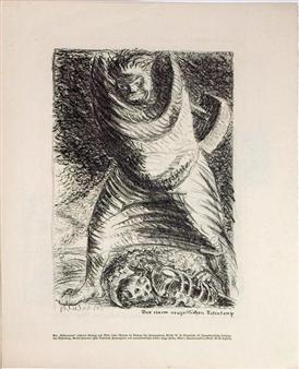 2 works: Brüder; Aus einem neuzeitlichen Totentanz By Ernst Barlach ,1916
