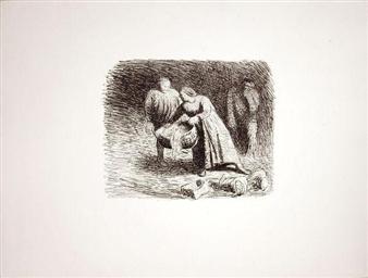 2 works: Die Wiege; Der Alb By Ernst Barlach ,1912