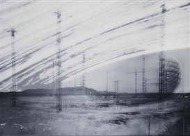 Artwork by Michael Wesely, 19.2.2003 - 28.5.2005 Allianz Arena, Made of C-print behind plexiglass