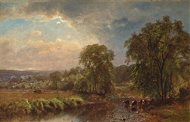 Artwork by James McDougal Hart, Summer Landscape, Made of oil on canvas