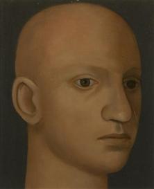 Artwork by John Kirby, Head, Made of oil on cardboard