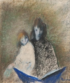 Artwork by Elvi Maarni, THE GOOD NIGHT STORY, Made of Pastel