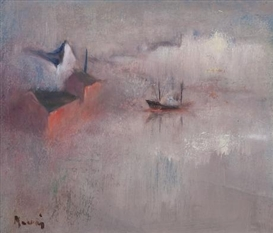 Artwork by Elvi Maarni, FROM HIETALAHTI, HELSINKI, Made of Oil on canvas