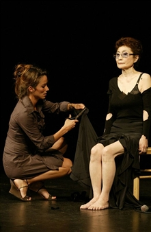 "Yoko Ono performing ""Cut Piece"" September 15, 2003 by Yoko Ono"