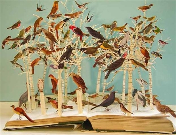 Birds of the open forest by Su Blackwell
