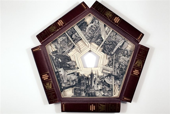 Brian Dettmer's The March of Democracy, 2010, Altered books, 18 1/2