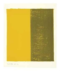 Artwork by Barnett Newman, Canto XIII, from 18 Cantos, Made of lithograph in colors