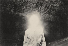 Artwork by Duane Michals, Illuminated Man, Made of Platinum