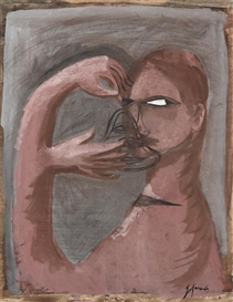 Artwork by Gérard Garouste, Sans titre, Made of Gouache on paper