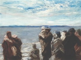 Artwork by William Morris Hunt, The Promised Land (The Ferry to Appledore), Made of Oil on canvas
