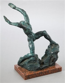 Artwork by Charles Umlauf, Supplication, Made of Bronze